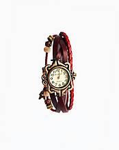 Часы женские кварцевые Viser Vintage Красные 0032R, КОД: 111896