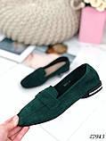 Лоферы женские зеленые  27943, фото 3