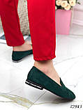 Лоферы женские зеленые  27943, фото 4