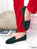 Лоферы женские зеленые  27943, фото 5