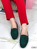 Лоферы женские зеленые  27943, фото 6