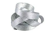Стрічка парчовая срібляста 2 см довжина 1 м
