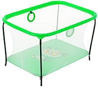 Манеж Qvatro LUX-02 мелкая сетка  зеленый (owl)