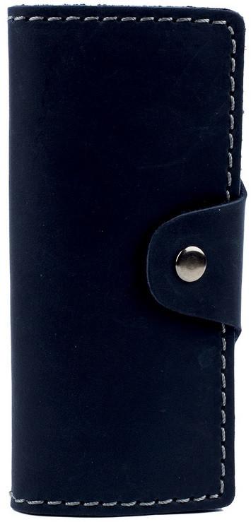 Кожаная ключница на кнопке BLACK BRIER КЛ-1-97 темно синяя