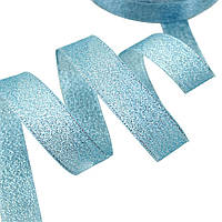 Стрічка парчовая блакитна 2 см довжина 1 м