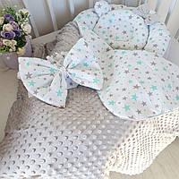 Кокон-гнездышко + ортопедическая подушка + конверт-одеяло