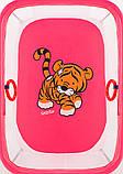 Манеж Qvatro LUX-02 мелкая сетка  розовый (tiger), фото 2