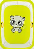 Манеж Qvatro Солнышко-02 мелкая сетка  желтый (panda), фото 2