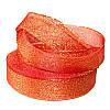 Лента парчовая красная 2 см длина 1 м