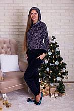 Женский велюровый костюм с брюками  для дома и отдыха  Nicoletta