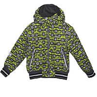 Lenne Куртка детская «GREG» с принтом лайм