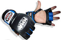 Перчатки беспалые KATAME для MMA Power System Красный черный:синий