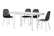 Обеденный матовый стол T-600 снежно-белый Ветро