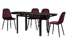 Обеденный матовый стол Т-600 черный