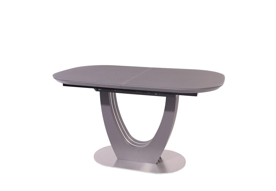 Стол МДФ+матовое стекло TML-765 серый