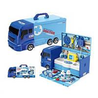 Детский игровой набор Доктора машина - чемодан, инструменты доктора, 8366P