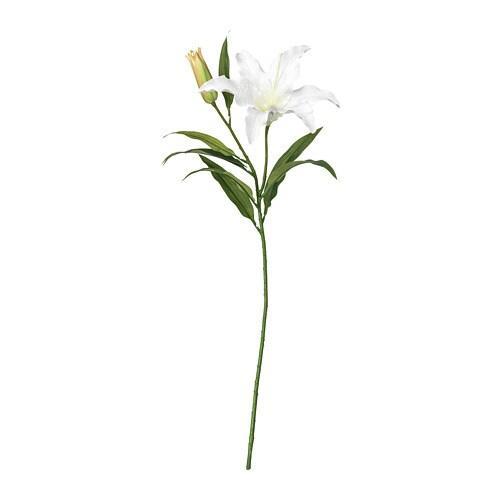 ИКЕА (IKEA) СМИККА, 403.335.87, Искусственный листок, лилия, белый, 85 см - ТОП ПРОДАЖ