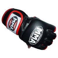 Перчатки беспалые FAITO для MMA Power System Белый черный:красный