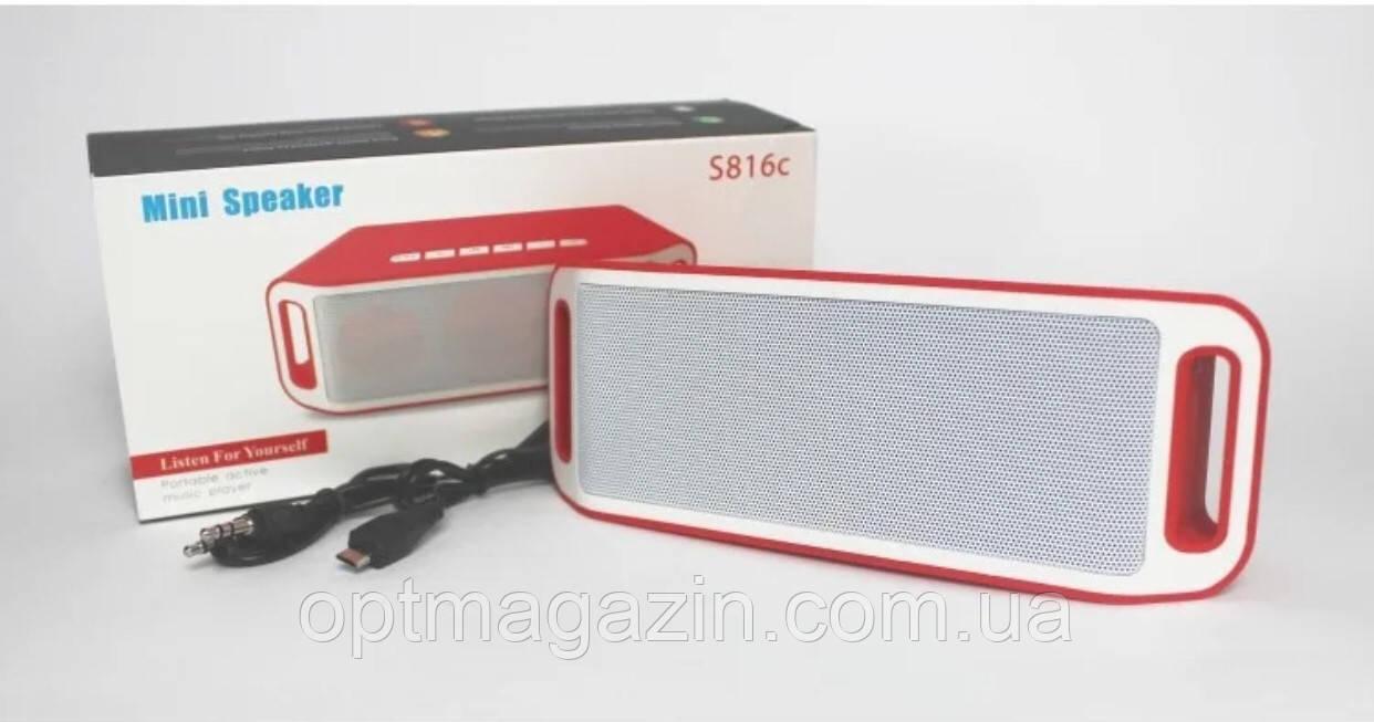Портативна колонка S816C (Bluetooth, USB, SD, FM, 2 динам