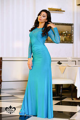 """Вечернее платье """"Дженифер""""   бирюза"""