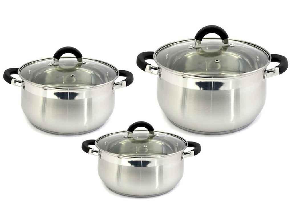 Набор посуды из нержавеющей стали Zauberg 6 предметов Black  (ZB-234B)
