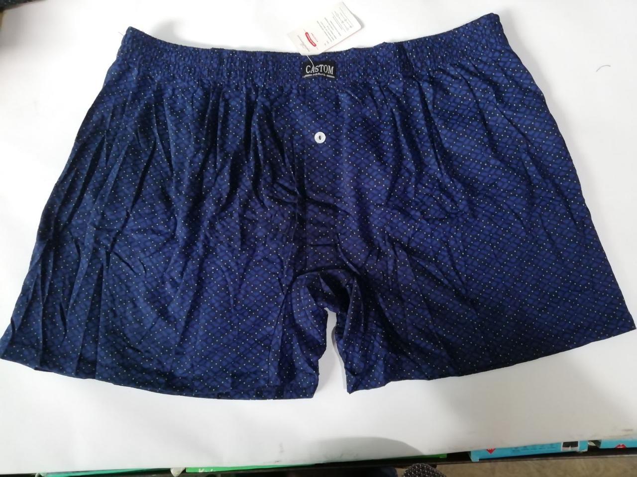 Мужские трусы шорты (семейные трусы батал 5,6,7) Марка «CASTOM»  арт.:58101