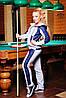 """Утепленный женский костюм """"Мейди""""  серый - меланж+темно-синий"""