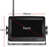 Система парковки для грузовика SAMFIWI C1073 (Беспроводной Монитор 7 дюймов + 1 беспроводная камера 12-24V), фото 2