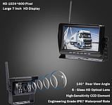 Система парковки для грузовика SAMFIWI C1073 (Беспроводной Монитор 7 дюймов + 1 беспроводная камера 12-24V), фото 5