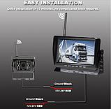 Система парковки для грузовика SAMFIWI C1073 (Беспроводной Монитор 7 дюймов + 1 беспроводная камера 12-24V), фото 7