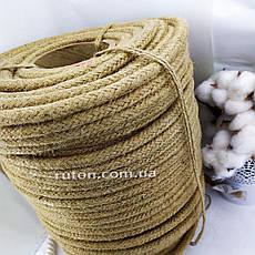 Джутовая плетеная веревка для интерьера и рукоделия 12 мм 100 м, фото 3