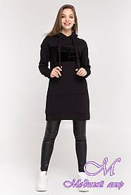 Женское худи платье черное (р. S, M, L) арт. Т-87-03/45099 L
