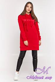 Женское худи платье красное (р. S, M, L) арт. Т-87-03/45100