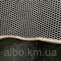 Красивый тюль сетка цвета пудра на метраж, высота 3 м, фото 4
