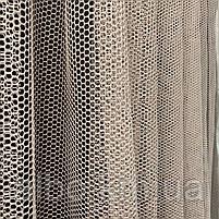 Красивый тюль сетка цвета пудра на метраж, высота 3 м, фото 3