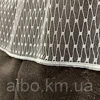 Стильний тюль сітка на основі фатину білого кольору на метраж висота 3 м (SARMASIK-1), фото 3
