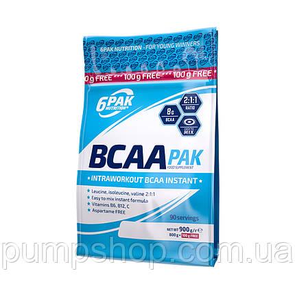Амінокислоти бца 6PAK Nutrition AMINO PAK 2:1:1 Instant 900 г, фото 2