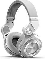 Беспроводные Bluetooth наушники Bluedio T2 Plus со встроенным радио (Белый)