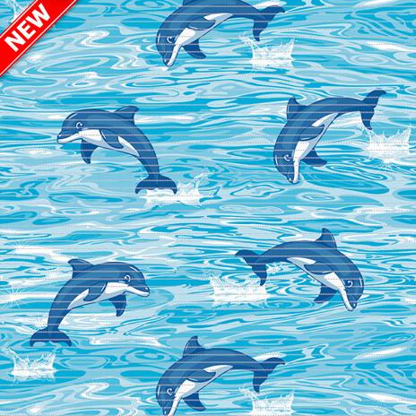 Килимок аквамат у ванну 130см Дельфіни