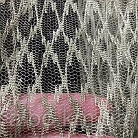 Стильный тюль сетка на основе фатина оливкового цвета на метраж, высота 3 м, фото 3
