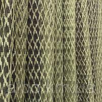 Стильный тюль сетка на основе фатина оливкового цвета на метраж, высота 3 м, фото 5