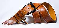Рыжий кожаный ремень ручной работы