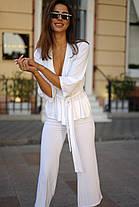 Трикотажный костюм в стильном оформлении, фото 3