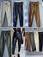 "Женские брюки, эко кожа (р. S-XL) Китай - от 4 шт. ""MK-995"""