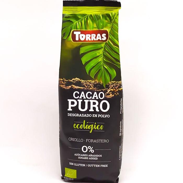 Горячий шоколад TORRAS Cacao Puro Ecologico без глютена без сахара 150 г Испания