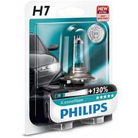 Лампа галогенная Philips H7 X-treme VISION +130%, 3700K, 1шт/блистер 12972XV+B1