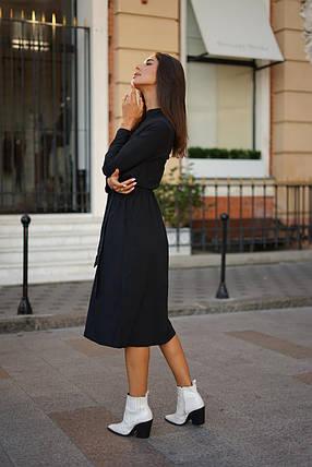 Платье-рубашка с воротником-стойкой, фото 2