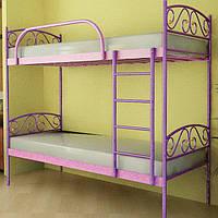 """Кровать двухъярусная """"Верона Дуо"""" 80х190 см. Металлический каркас"""