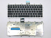 Клавиатура для HP Pavilion x360, 11-N, 11-N000 ( RU Black с рамкой Silver), фото 1