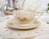 Антикварная фарфоровая чайная чашка с блюдцем, Schumann & Schreider, Германия, 1950-е года, фото 3